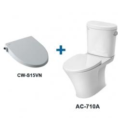 Bàn cầu AC-710A+CWS15VN