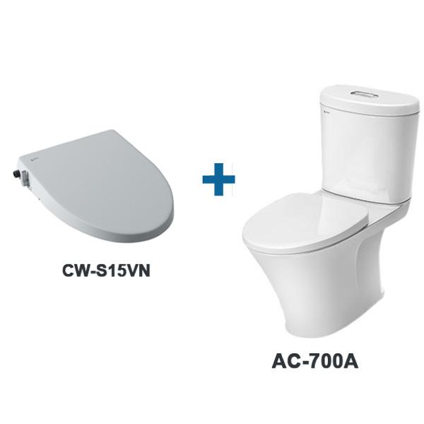 Bàn cầu AC-700A+CWS15VN